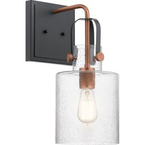 Kitner - 1 light Wall Bracket - with Vintage Industrial inspirations - 16.5 inches tall by 7 inches wide