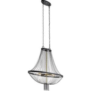 Alexia - 6 Light Foyer Chandelier - with Traditional inspirations - 39.5 inches tall by 13.5 inches wide