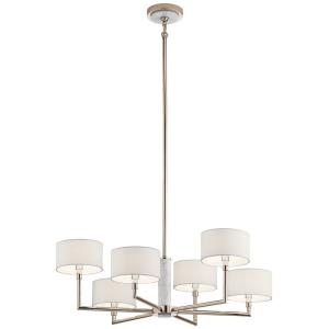 Laurent - 6 light Large Chandelier - with Mid-Century/Retro inspirations - 16 inches tall by 33 inches wide