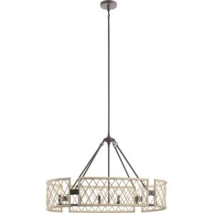 Oana - 6 light Oval Chandelier - with Lodge/Country/Rustic inspirations - 25 inches tall by 14.75 inches wide