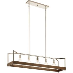 Tanis - 5 light Linear Chandelier - 11.75 inches tall by 11 inches wide