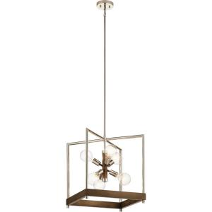 Tanis - 6 light Foyer Pendant - 21 inches tall by 18 inches wide