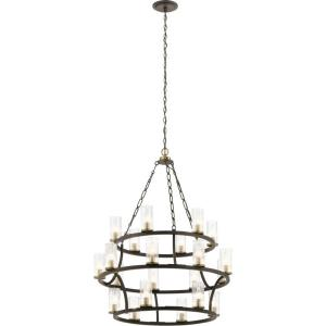 Mathias - Twenty-1 light 3-Tier Chandelier - with Mid-Century/Retro inspirations - 41.5 inches tall by 31.5 inches wide