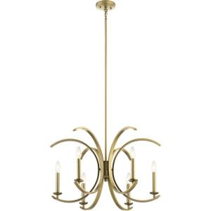 Cassadee - 6 light Meidum Chandelier - with Contemporary inspirations - 16.5 inches tall by 26 inches wide