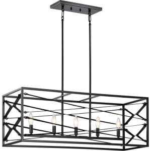 Sevan - 5 light Linear Chandelier - 13 inches wide