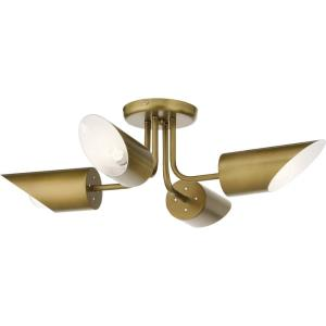 Trentino - Four Light Semi-Flush Mount