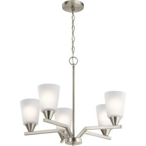 Skagos - 5 light Small Chandelier - 23.75 inches tall by 21.75 inches wide