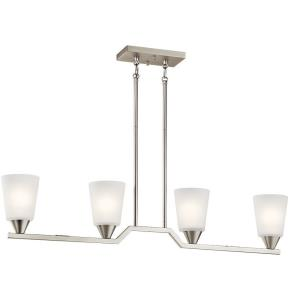 Skagos - 4 light Linear Chandelier - 15.25 inches tall by 4.75 inches wide