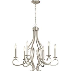 Ania - 6 Light Meidum Chandelier - with Traditional inspirations - 26.75 inches tall by 26 inches wide