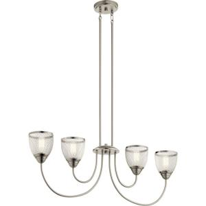 Voclain - 4 light Linear Chandelier - 20.25 inches tall by 6.75 inches wide