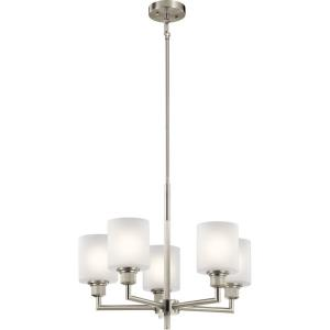 Lynn Haven - 5 light Small Chandelier - with Contemporary inspirations - 18.25 inches tall by 22 inches wide