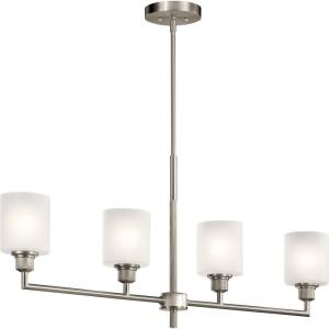 Lynn Haven - 4 light Linear Chandelier - with Contemporary inspirations - 16.5 inches tall by 4.75 inches wide