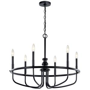 Capitol Hill - 6 light Large Chandelier - with Traditional inspirations - 22 inches tall by 28.75 inches wide
