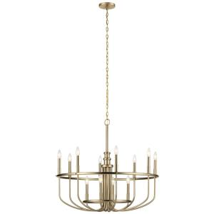 Capitol Hill - Twelve Light Large Chandelier - with Traditional inspirations - 30.75 inches tall by 34.75 inches wide