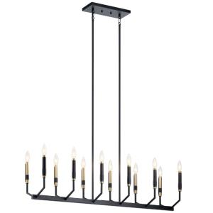 Armand - 12 Light Linear Chandelier - with Contemporary inspirations - 20 inches tall by 9.5 inches wide