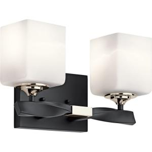 Marette - 2 Light Soft Bath Vanity Approved for Damp Locations - with Soft Contemporary inspirations - 7.75 inches tall by 13.5 inches wide