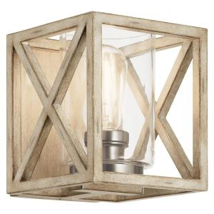 Moorgate - 1 Light Wall Sconce - with Lodge/Country/Rustic inspirations - 7.25 inches tall by 6.5 inches wide
