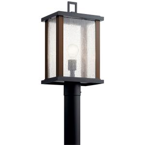 Marimount - 1 light Outdoor Post Lantern - with Lodge/Country/Rustic inspirations - 18.25 inches tall by 6.75 inches wide