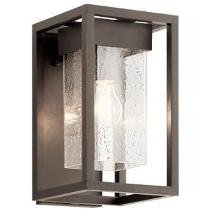 Mercer - 1 Light Small Outdoor Wall Mount - with Transitional inspirations - 12 inches tall by 7 inches wide
