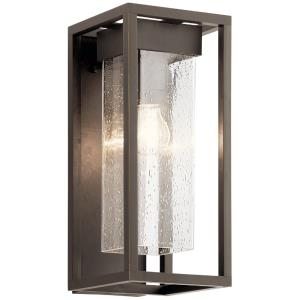 Mercer - 1 Light Medium Outdoor Wall Mount - with Transitional inspirations - 16 inches tall by 7 inches wide