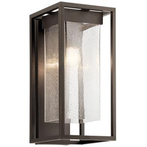 Mercer - 1 Light Large Outdoor Wall Mount - with Transitional inspirations - 18.75 inches tall by 9 inches wide