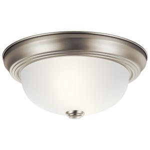 11 Inch Two Light Flush Mount