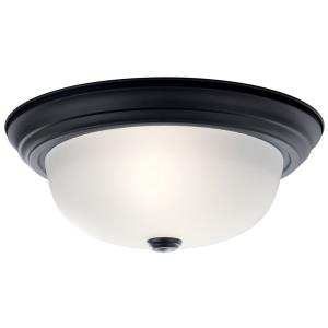 - 2 Light Flush Mount - with Transitional inspirations - 5.25 inches tall by 13.25 inches wide