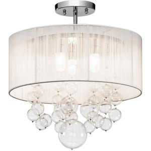 Imbuia - Three Light Semi-Flush Mount