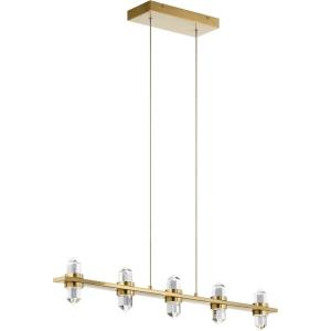 Arabella - 36.5 Inch 33W 10 LED Linear Chandelier