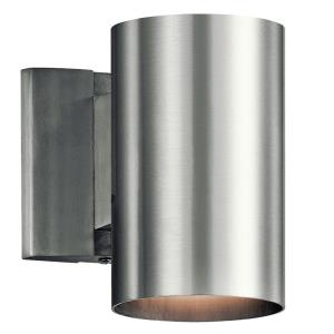 1 light Small Outdoor Wall Mount - with Contemporary inspirations - 7 inches tall by 4.75 inches wide