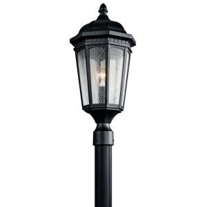 Courtyard - 1 light Post - with Traditional inspirations - 23.75 inches tall by 10.25 inches wide