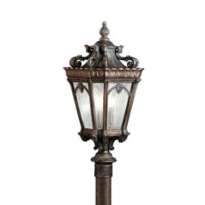 Tournai - 3 light Post Mount - 27 inches tall by 11.75 inches wide