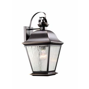 Mount Vernon - 1 light Large Outdoor Wall Lantern - with Traditional inspirations - 19.5 inches tall by 9.5 inches wide