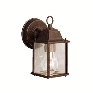 Barrie - 10W 1 LED Outdoor Small Wall Lantern - with Traditional inspirations - 8.5 inches tall by 4.75 inches wide