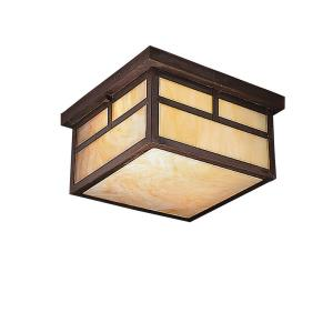 La Mesa - 2 light Flush Mount - with Arts and Crafts/Mission inspirations - 6.25 inches tall by 11.25 inches wide