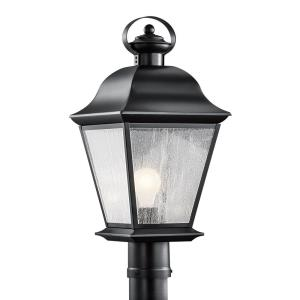 Mount Vernon - 1 light Outdoor Post Lantern - with Traditional inspirations - 20.75 inches tall by 9.5 inches wide