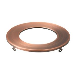 Direct to Ceiling - Round Slim Downlight Trim - with Utilitarian inspirations - 0.5 inches tall by 5 inches wide