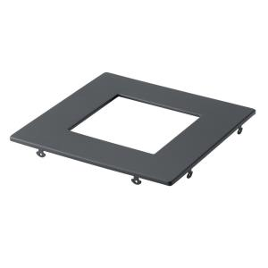 Direct to Ceiling - Square Slim Downlight Trim - with Utilitarian inspirations - 0.5 inches tall by 7 inches wide