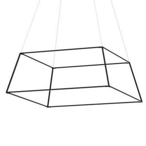 "Z-Bar - 51"" 140W 1 Soft Warm Light LED Large Square Rise Pendant"