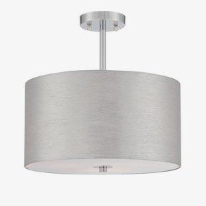 Silvain - Three Light Semi-Flush Mount