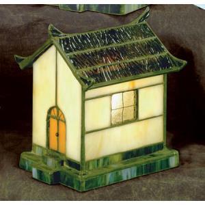 Pagoda - One Light Tiffany Accent Lamp