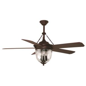 Knightsbridge - Single Light Ceiling Fan - Rated for Damp Locations
