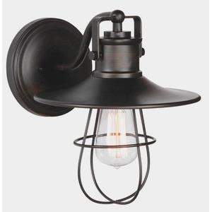 One Light Outdoor Wall Sconce with Cage (Pack of 2)