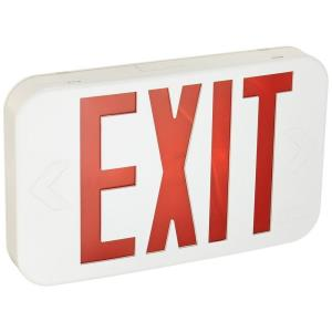 "Contractor Select - 11"" 0.8W 1 LED Emergency Exit Sign Light with Backup Battery"