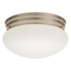 "Essentials - 9"" 3000K 20.4W 1 LED Mushroom Flush Mount"