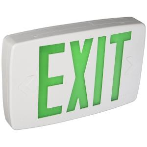 "Quantum - 11.75"" 0.62W 1 LED Emergency Exit Sign Light with Stencil-Faced and Nickel Cadium Battery /Self Diagnostic"