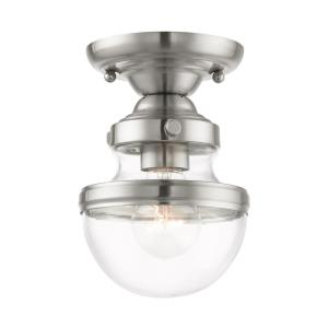 Oldwick - 1 Light Flush Mount in Oldwick Style - 5.5 Inches wide by 8 Inches high