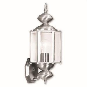 1 Light Outdoor Wall Lantern in Outdoor Basics Style - 7 Inches wide by 17 Inches high