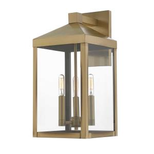 Nyack - Three Light Outdoor Wall Lantern - 8.25 Inches wide by 17.5 Inches high