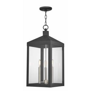 Nyack - 3 Light Outdoor Pendant Lantern in Nyack Style - 10.5 Inches wide by 24 Inches high